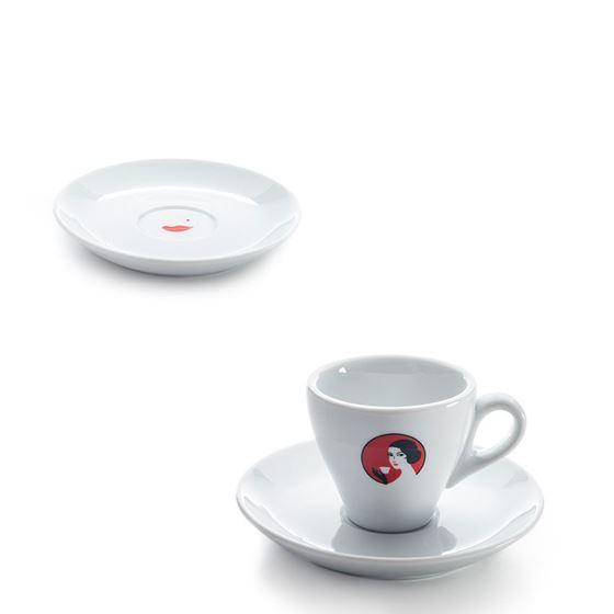 """Tasse Espresso 8cl """"Oetterli"""" mit Untertasse"""