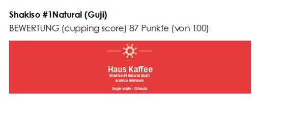 Haus Kaffee, Shakiso #1Natural Guji (Single origin)